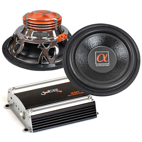 Sub and Amp Packages Car Audio Centre PSW112  JA490