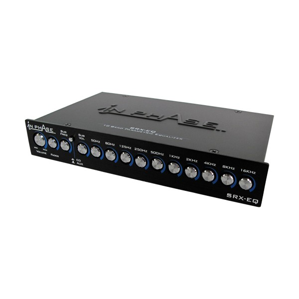 In Phase Car Audio Srx Eq 10 Band Parametric Equalizer Switched Aux Input B Stock