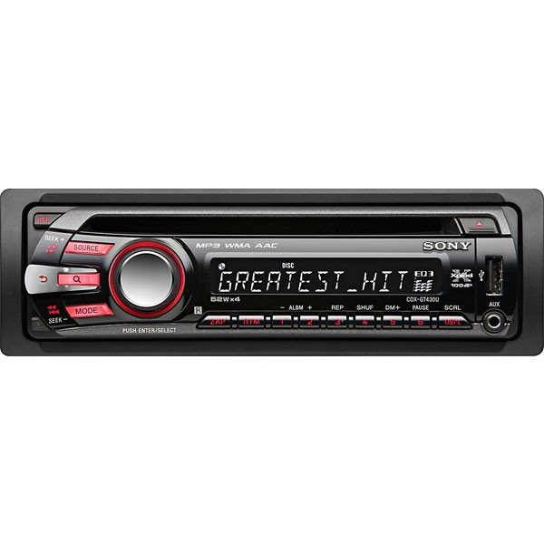 sony cdx gt430u cd mp3 wma car stereo with usb cdx. Black Bedroom Furniture Sets. Home Design Ideas