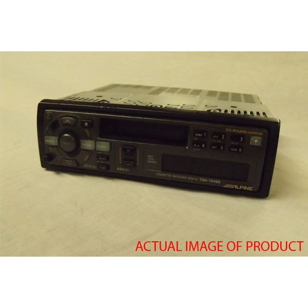 Alpine Car Audio Systems TDM-7548R Radio Cassette Tuner with CD Changer  Control