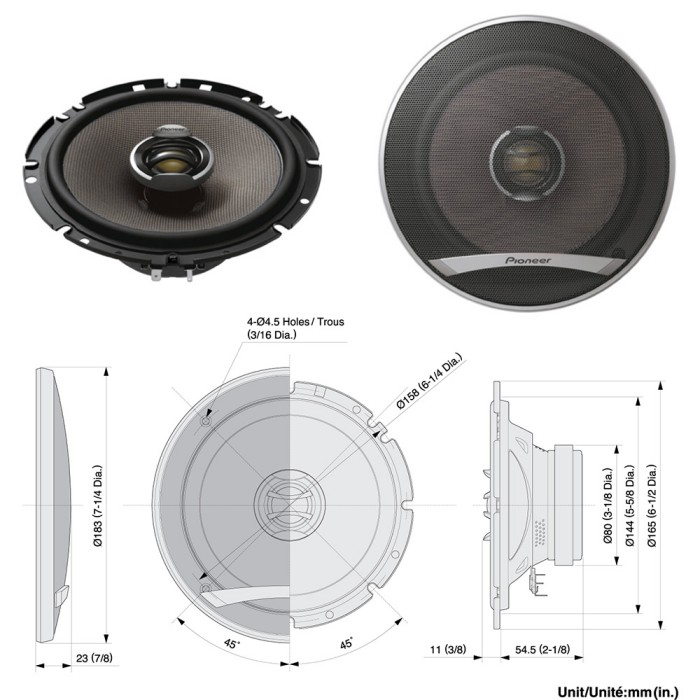 Car Speaker Upgrades Car Audio Centre TSE1702I + TSG1733i + JA794 + USW8 + JW81