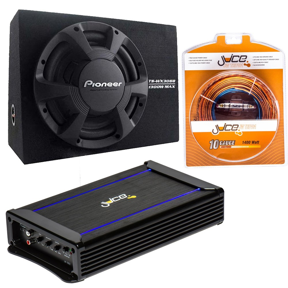 Pioneer Ts Wx306b Enclosed Subwoofer With Amplifier And Wiring Kit Cheap Amp Sub Packages