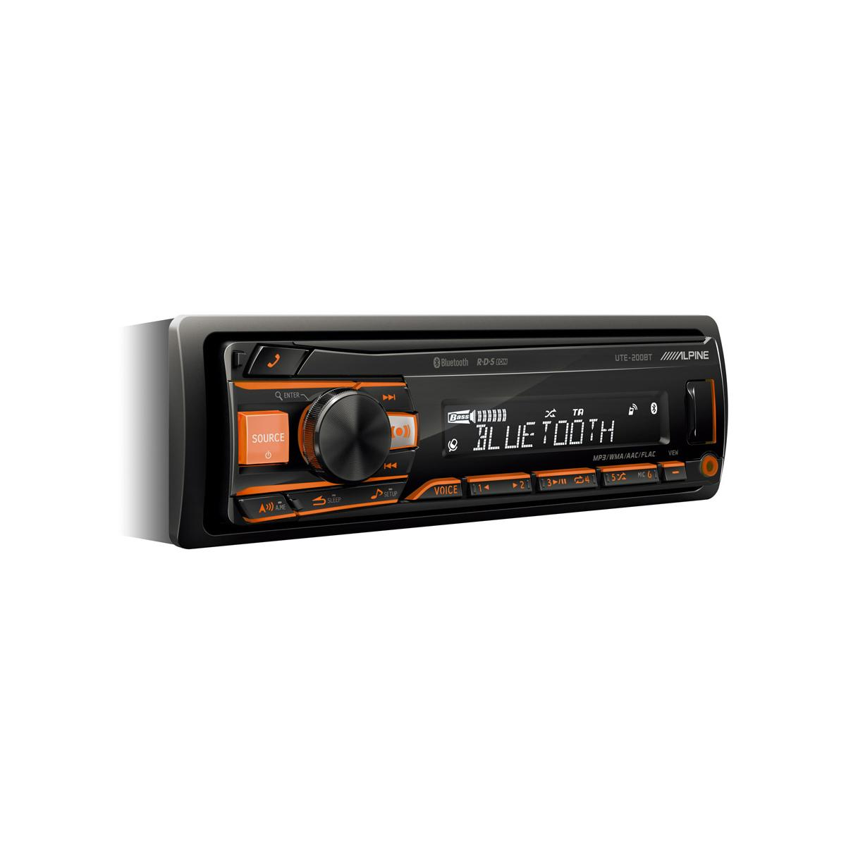 alpine ute 72bt mech less car stereo with built in bluetooth. Black Bedroom Furniture Sets. Home Design Ideas