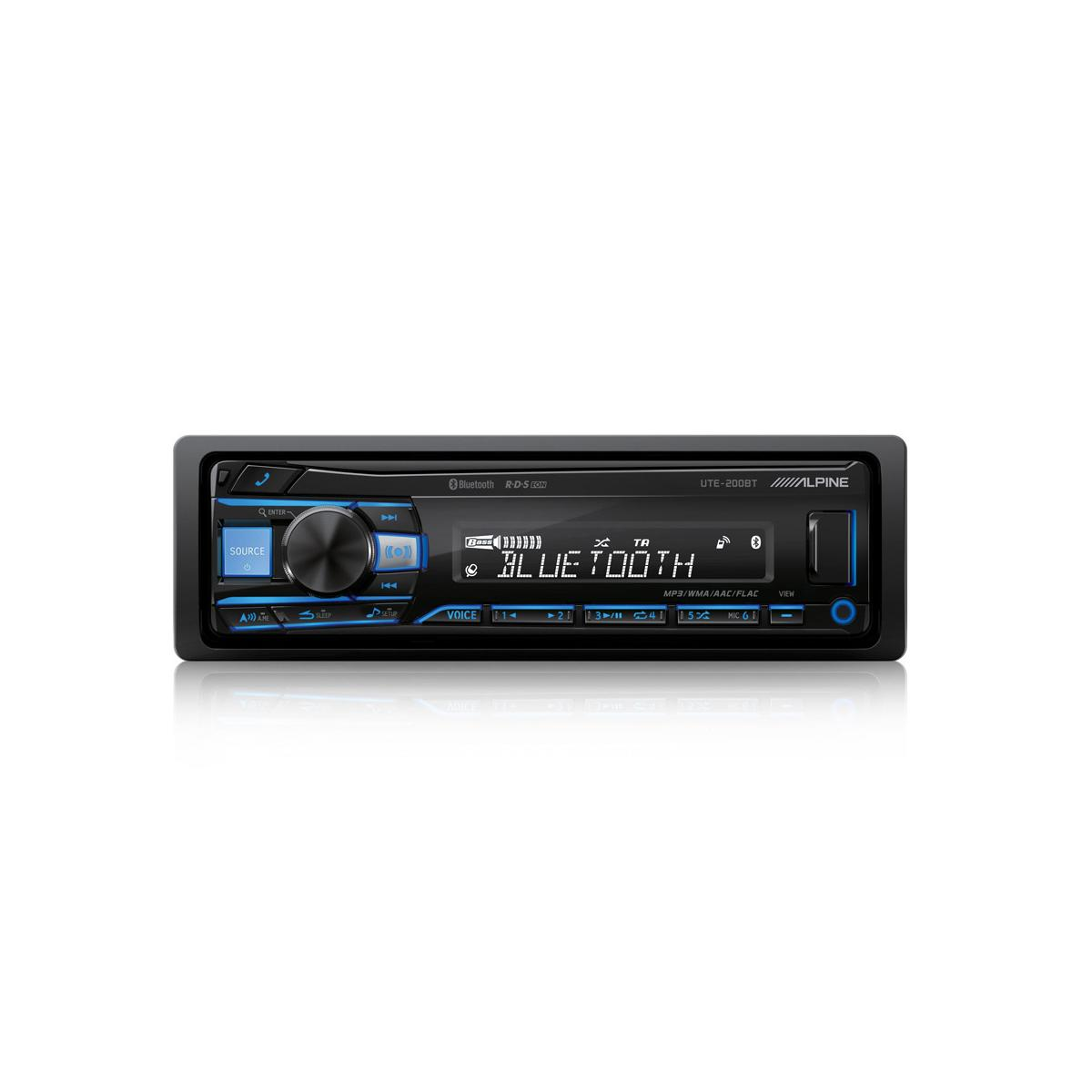 Mechless Car Stereo Alpine Car Audio Systems UTE-200BT 1