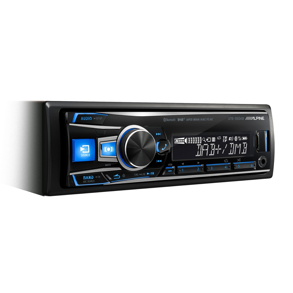 Mechless Car Stereo Alpine Car Audio Systems UTE-93DAB