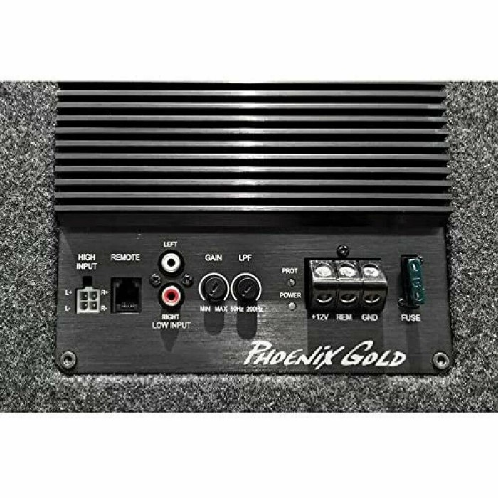 Enclosed Subwoofers Phoenix Gold Audio Z110AB-V2