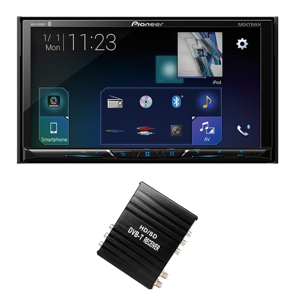 Double Din Screen Pioneer AVH-Z5100BT + FV006