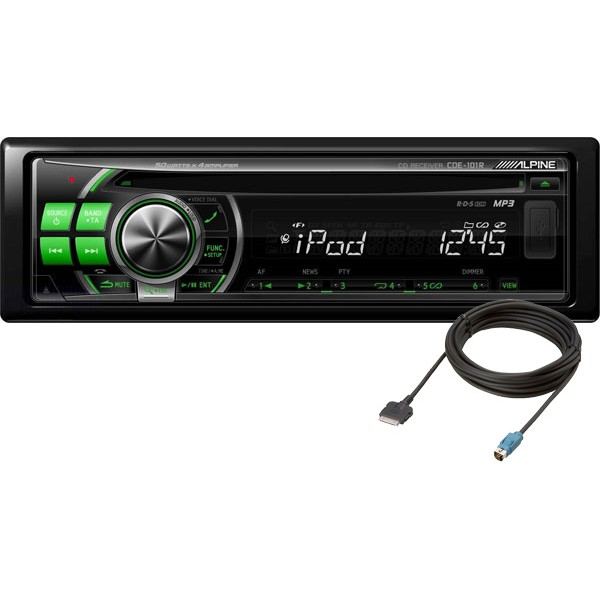 Alpine Cde 101r Cd Receiver Usb With Ipod Cable Cde