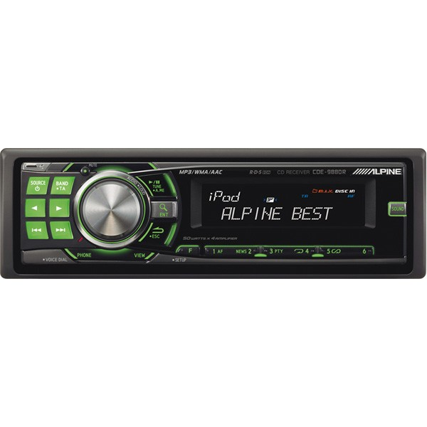 iPhone Compatible Alpine Car Audio Systems CDE-9880R