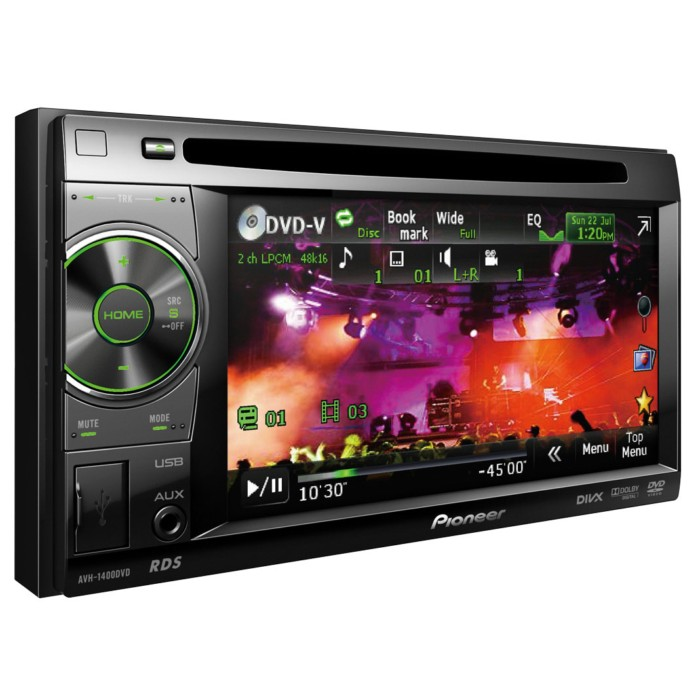 Double din screen Pioneer AVH-1400DVD 1