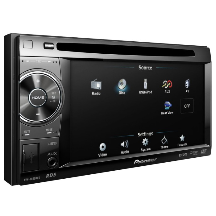 Double din screen Pioneer AVH-1400DVD 2