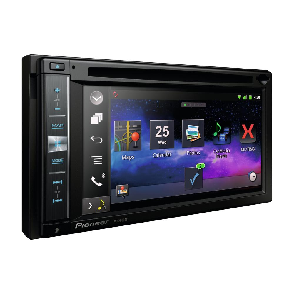 pioneer avic f860bt double din sat nav with apple car play. Black Bedroom Furniture Sets. Home Design Ideas