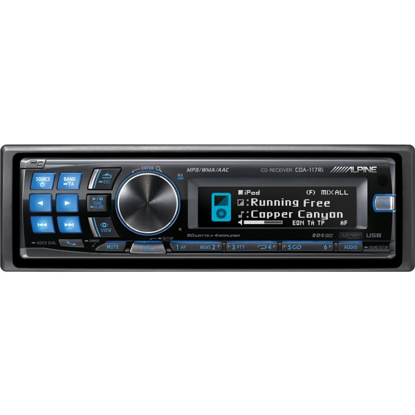 Alpine Cda 117ri Cd Mp3 Wma Ipod Ready Car Stereo With Itun