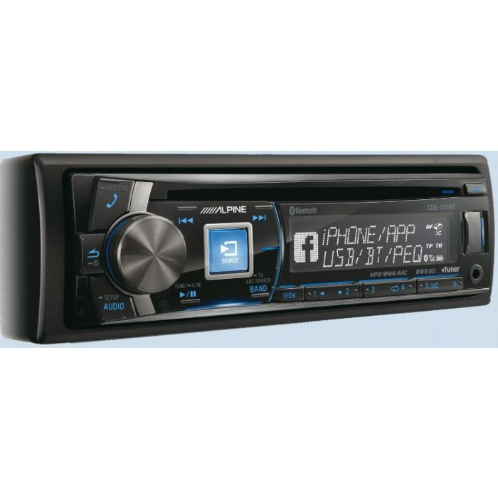 CD/MP3 Player Alpine Car Audio Systems CDE-177BT 1