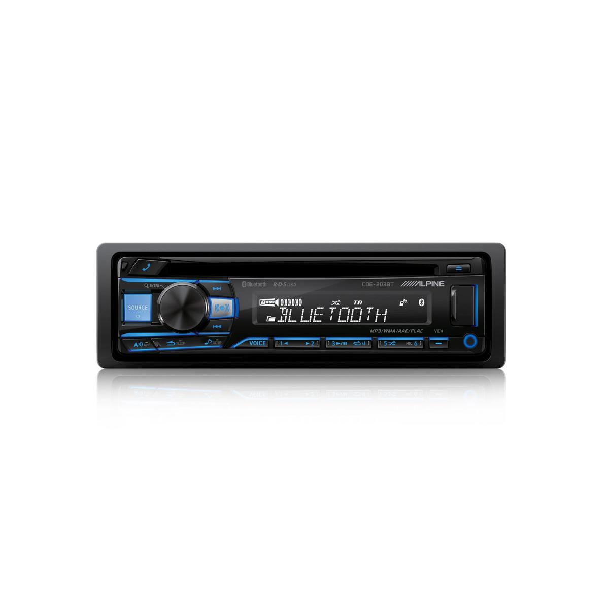 Bluetooth Alpine Car Audio Systems CDE203BT 1