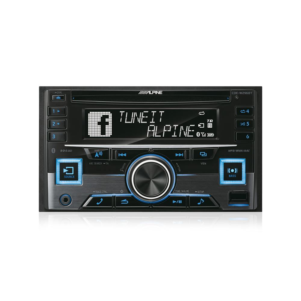 Bluetooth Compatible Alpine Car Audio Systems CDE-W296BT 4