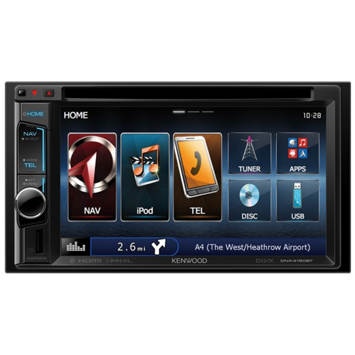 dnx 4150bt 6 1 touch screen sat nav unit with bluetooth. Black Bedroom Furniture Sets. Home Design Ideas