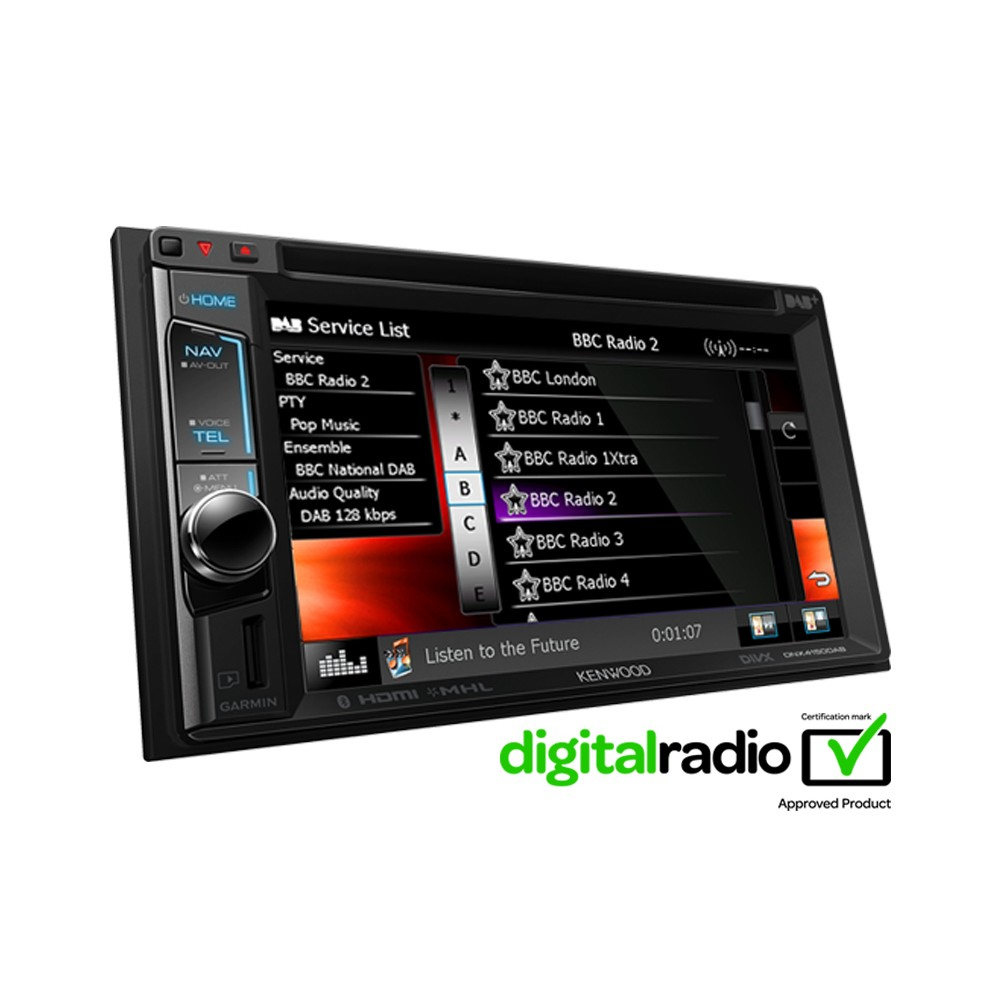 In Car Sat Nav Kenwood Car Audio DNX-4150DAB