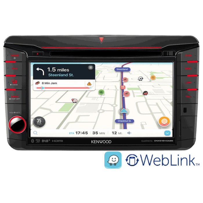 In Car Sat Nav Kenwood Car Audio DNX518VDABS