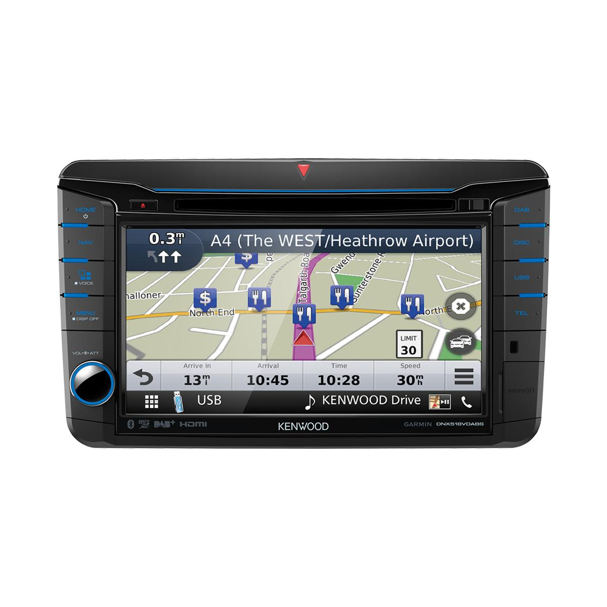 In Car Sat Nav Kenwood Car Audio DNX518VDABS 1