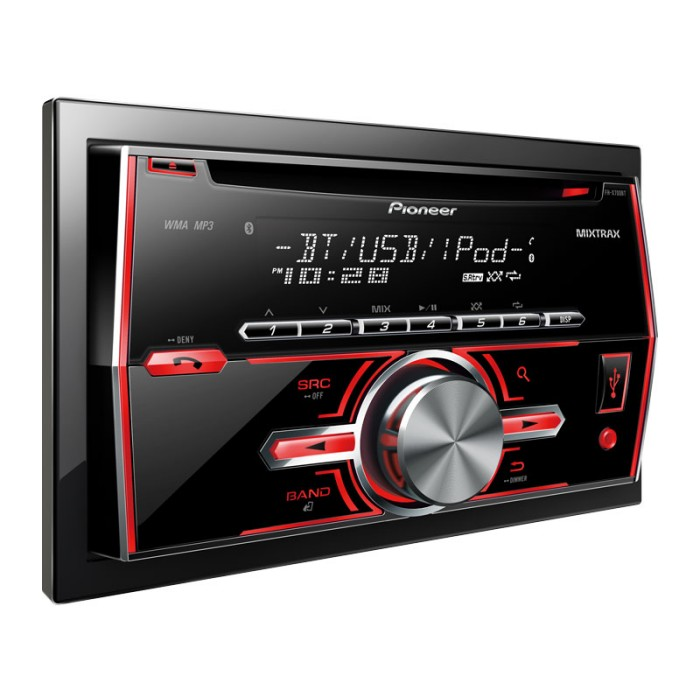 Double Din Car Stereos Pioneer FHX700BT 1