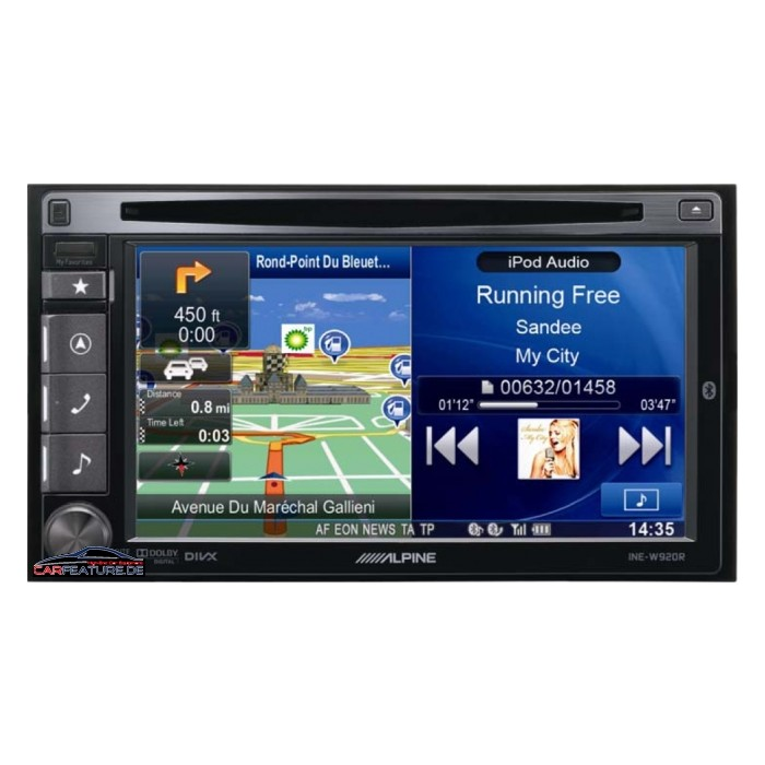 alpine ine w920r double din advanced sat nav system bluetoot. Black Bedroom Furniture Sets. Home Design Ideas