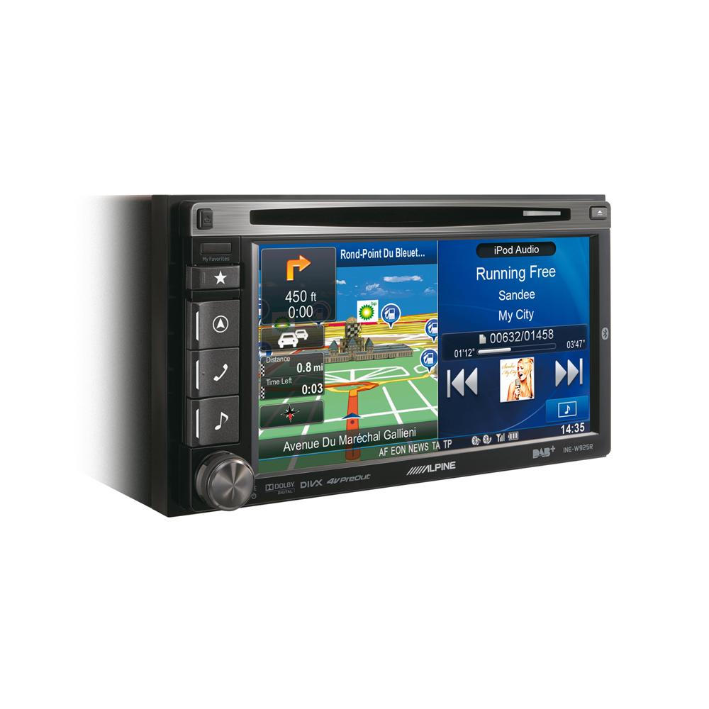 Car Audio With Navigation Systems : Alpine ine w r dab navigation double din car stereo system
