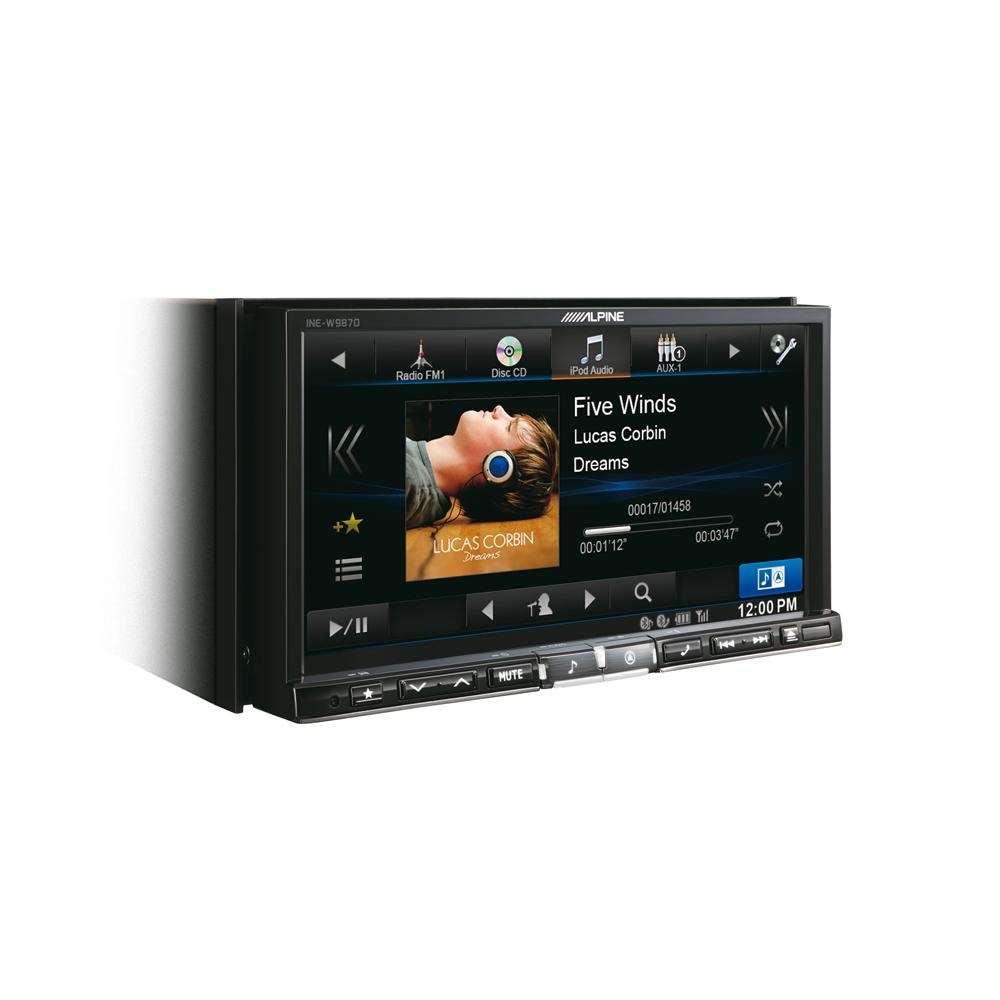 Double Din Screen Alpine Car Audio Systems INE-W987D