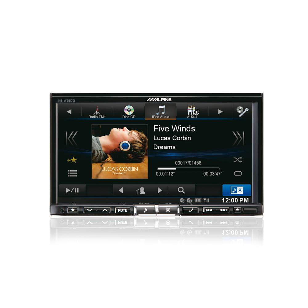Double Din Screen Alpine Car Audio Systems INE-W987D 1