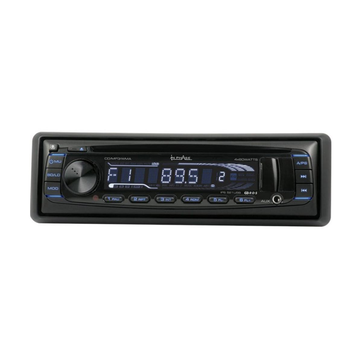 CD/MP3 Player In Phase Car Audio IPS521USB
