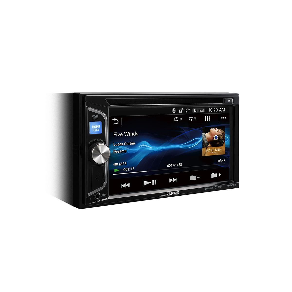 alpine ive w560bt 6 2 double din bluetooth dvd mp3 av station. Black Bedroom Furniture Sets. Home Design Ideas