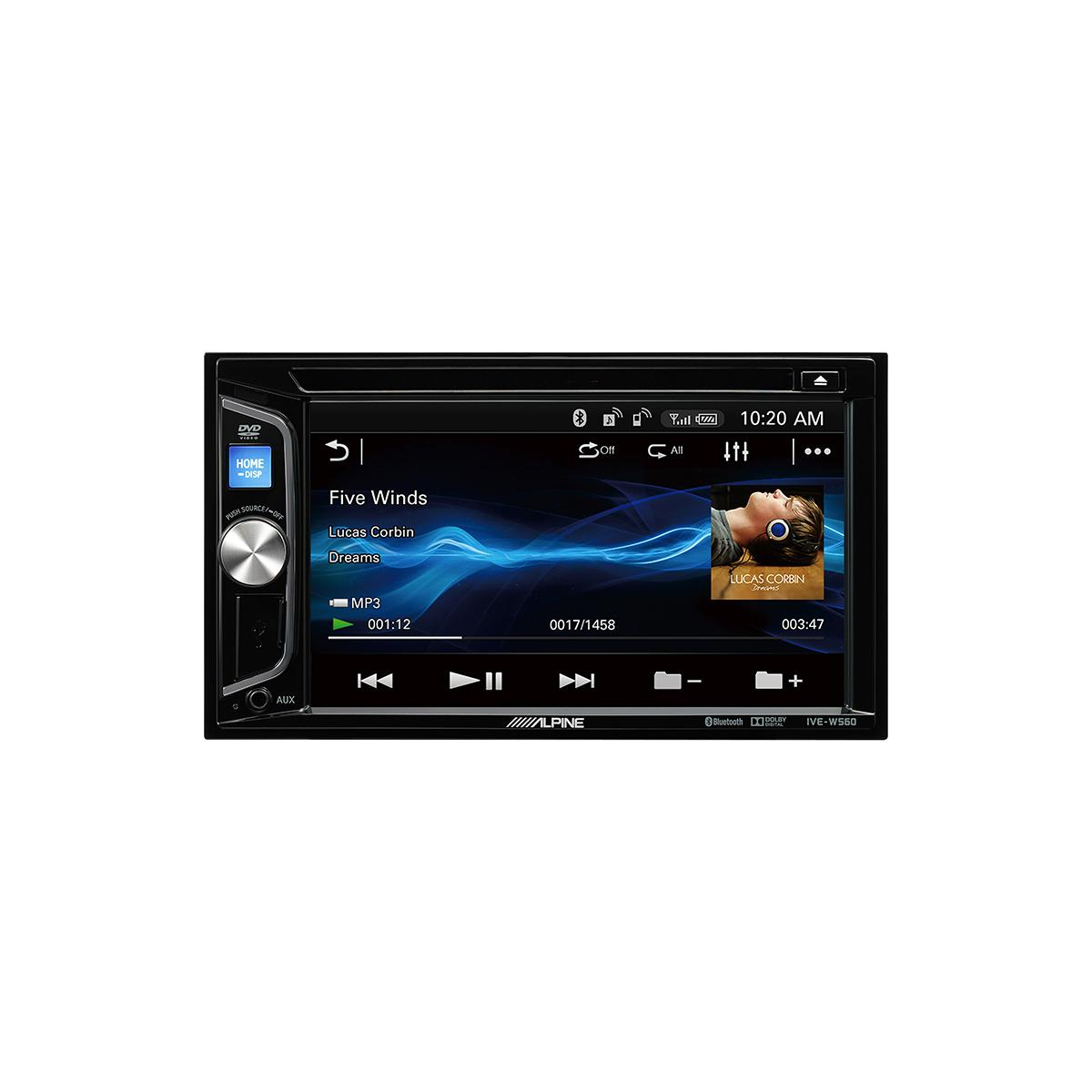 Double Din Screen Alpine Car Audio Systems IVE-W560BT 2