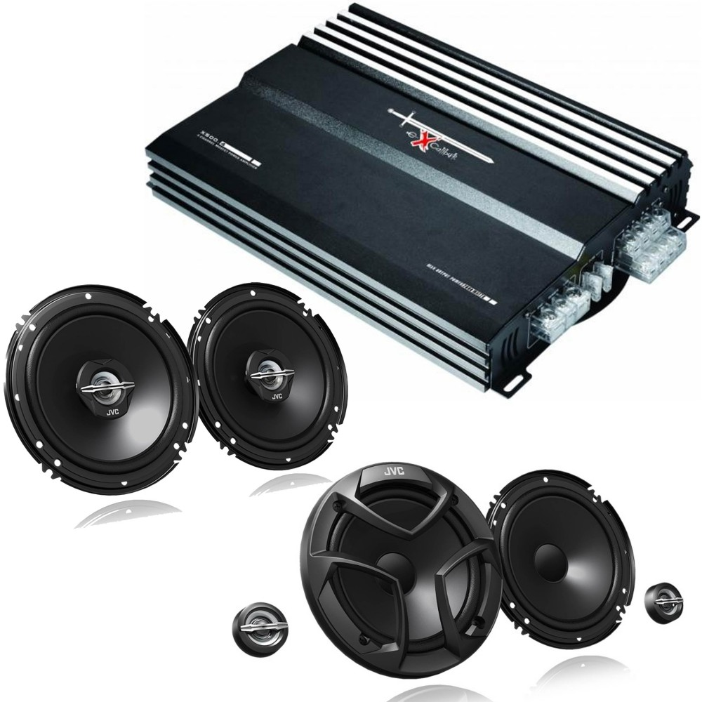 Speaker and Amps packages JVC X500.4 + CS-J620X - CS-JS600