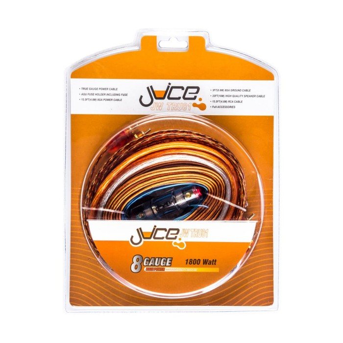 Juice Car Audio JWTRU81 8 Gauge 1800w 2 Channel or Mono Amplifier Wiring on