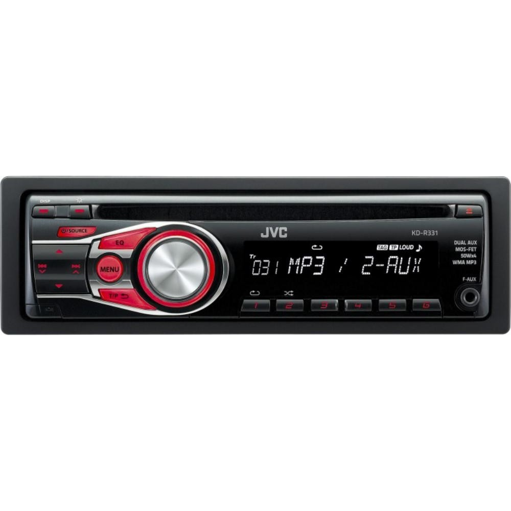 JVC KD-R331 CD Car Stereo System With Front Aux Input CD