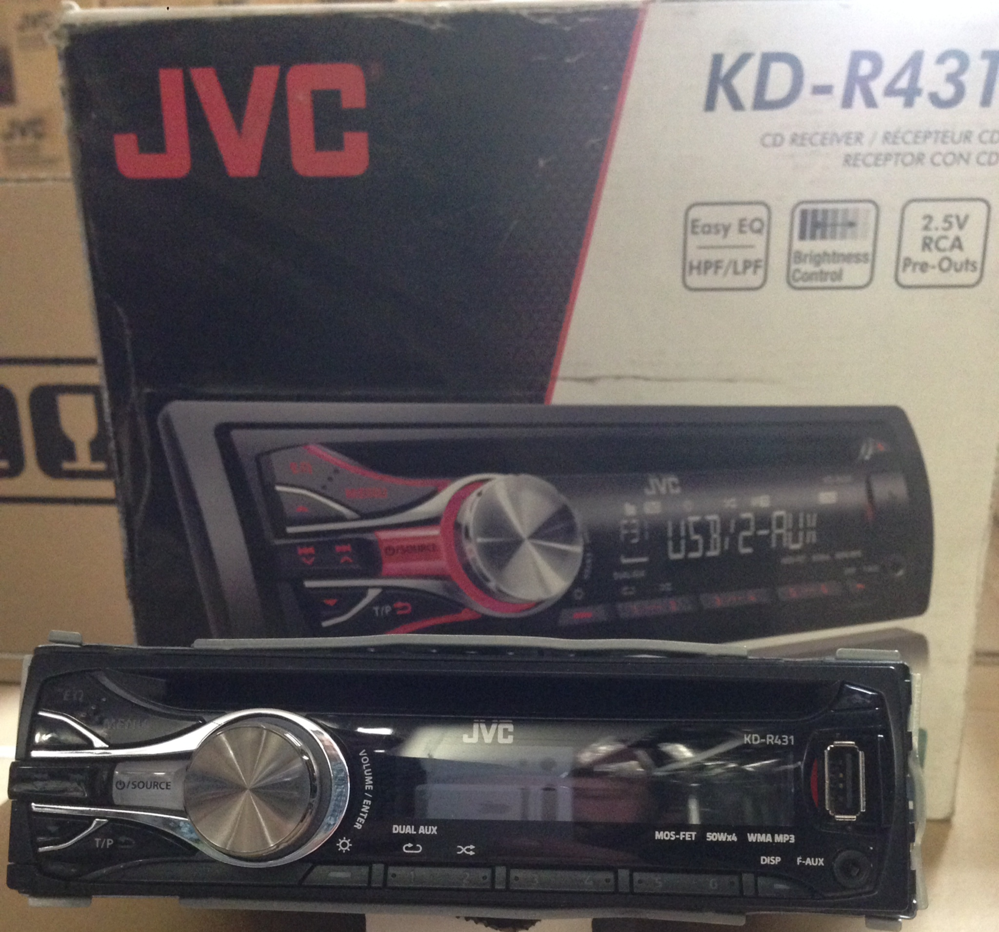 Jvc Kd G342 Cd Mp3 Player Front Aux Input Kd G342 From Jvc