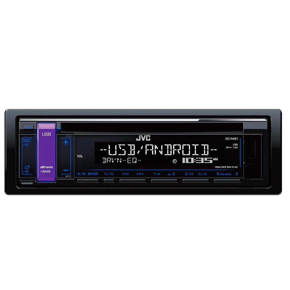 kd r471 cd receiver front usb aux input click here for image of jvc kd r471