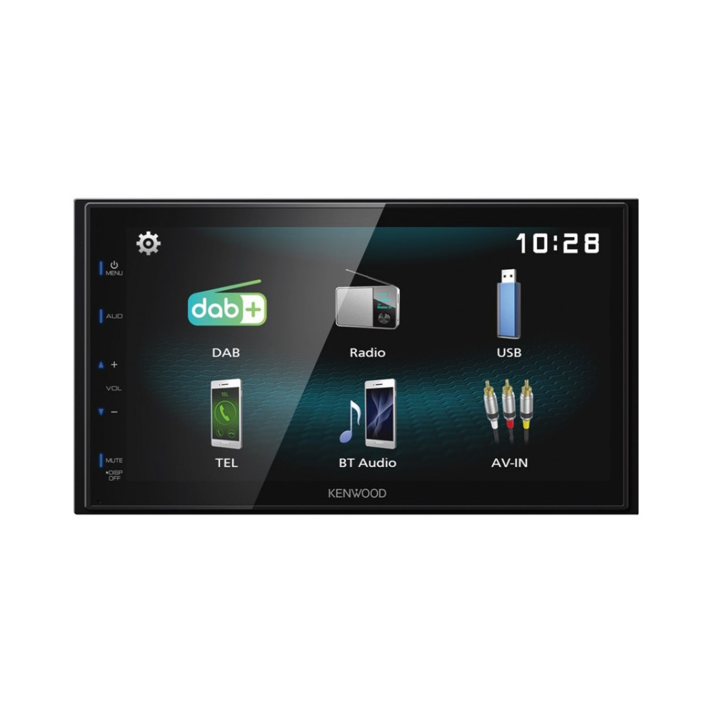 Double Din Screen Kenwood Car Audio DMX125DAB