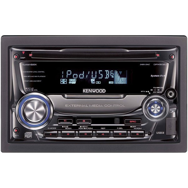 Car Stereo Systems With Bluetooth Kenwood DPX-502U Double DIN CD / MP3 / WMA / USB Player, Front AUX ...