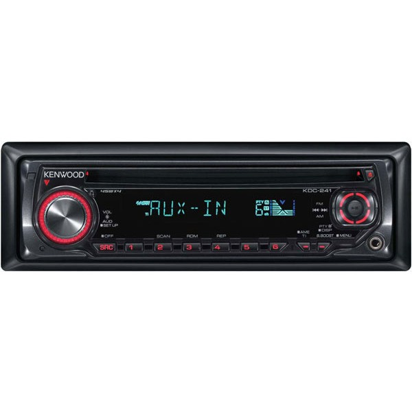Kenwood Kdc241sa Cd Player Front Aux Input From Kenwoodrhcaraudiocentrecouk: Car Radio With Cd Player At Gmaili.net