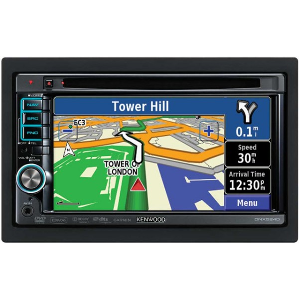 kenwood dnx 5240bt double din navigation with. Black Bedroom Furniture Sets. Home Design Ideas