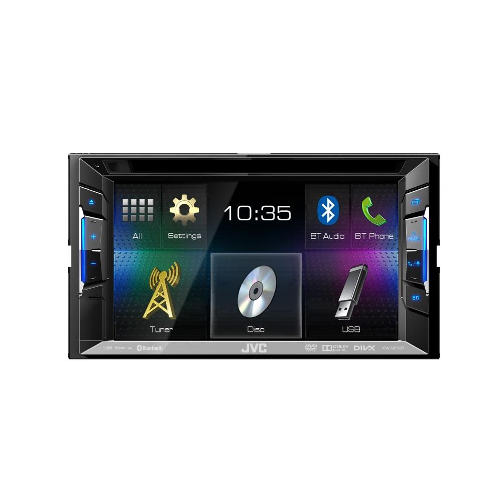 best service c106d a5a1c JVC KW-V21BT Double Din AV System with built in Bluetooth, AUX/USB  iPod/iPhone