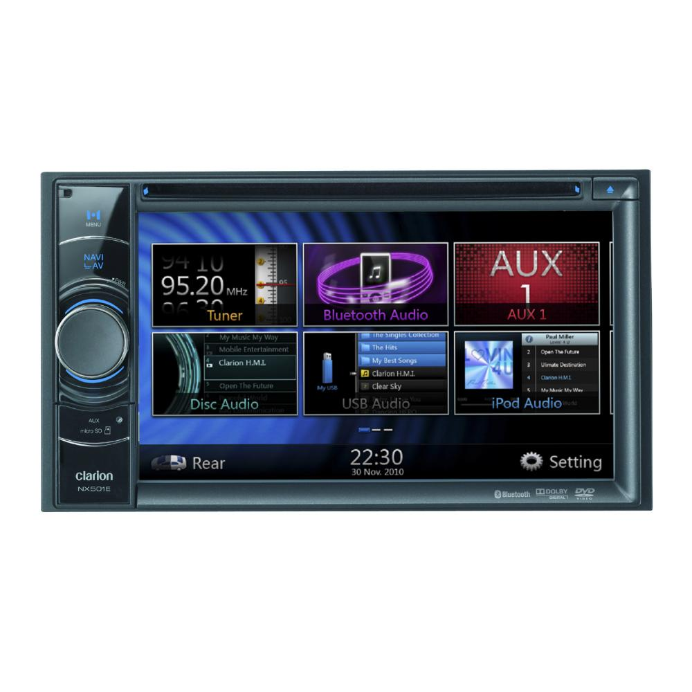 Nx501e Double Din Sat Nav All In One Unit With 6 2 Inch Touc