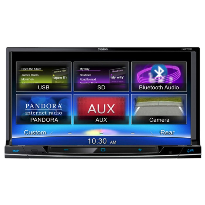 Clarion Car Audio Clarion NX702DAB Double Din multimedia system with built  in Sat Nav and Bluetooth, with DAB digital