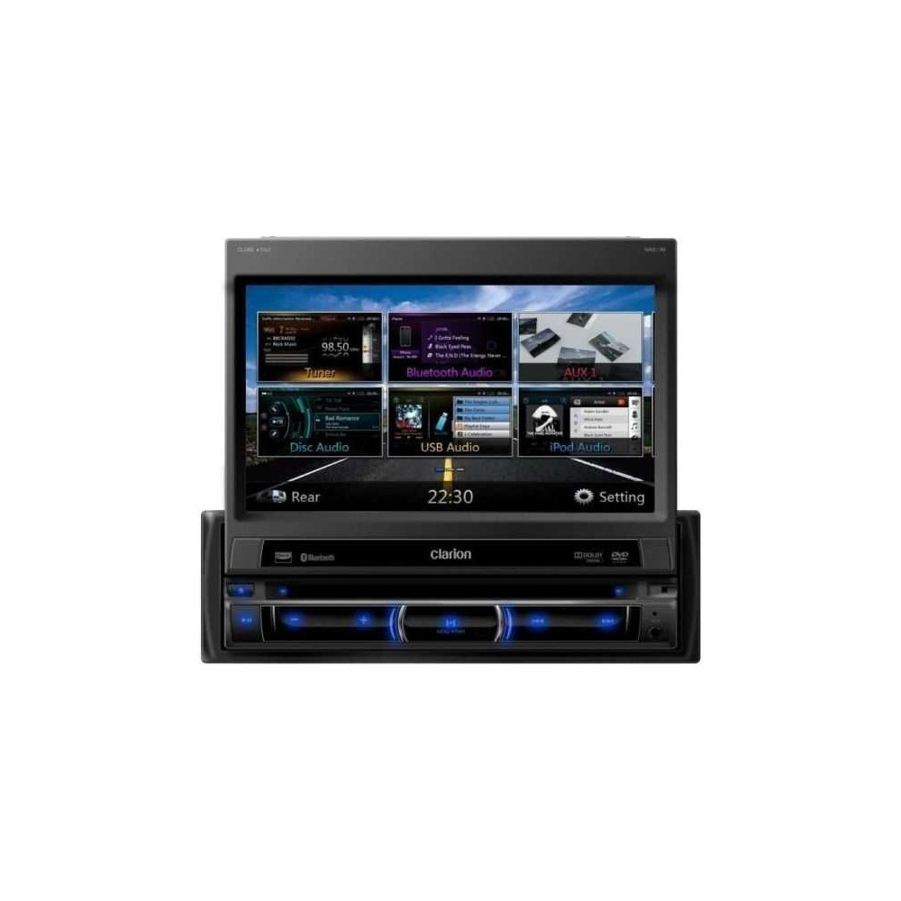 Clarion 1din Flipout Navigation Unit With Bluetooth Ipod Audio Wiring In Car Sat Nav Nz502e