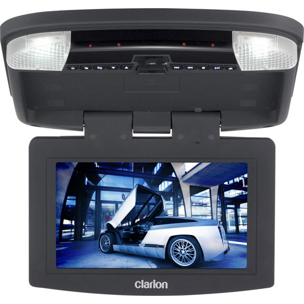Clarion Ohm888vd 8 Inch Roof Mounted Monitor With Dvd