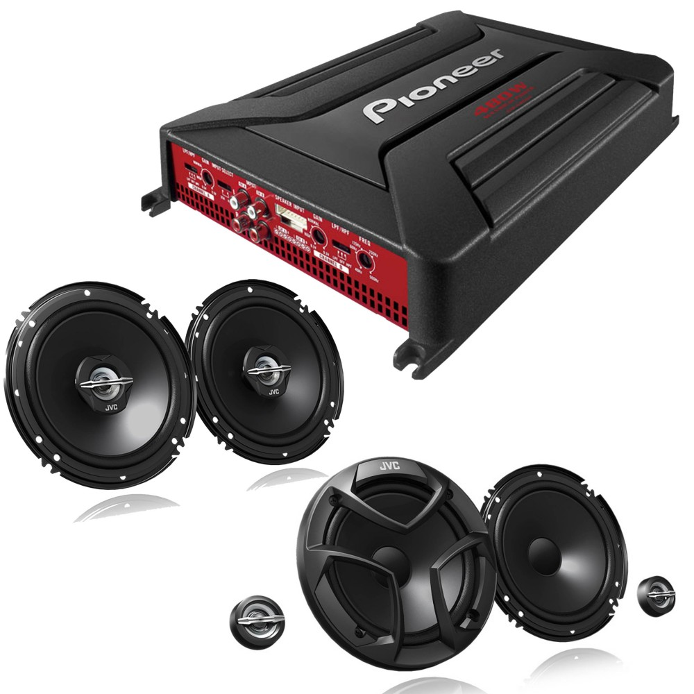 Speaker and Amps packages JVC GM-A4604 + CS-JS600 + CS-J620X