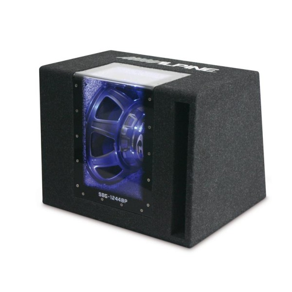 sbg 1244bp 800w 12 bandpass subwoofer in custom enclosure. Black Bedroom Furniture Sets. Home Design Ideas
