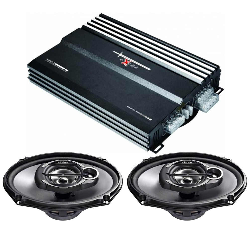 Speaker and Amps packages Clarion x500.2  SRE6932