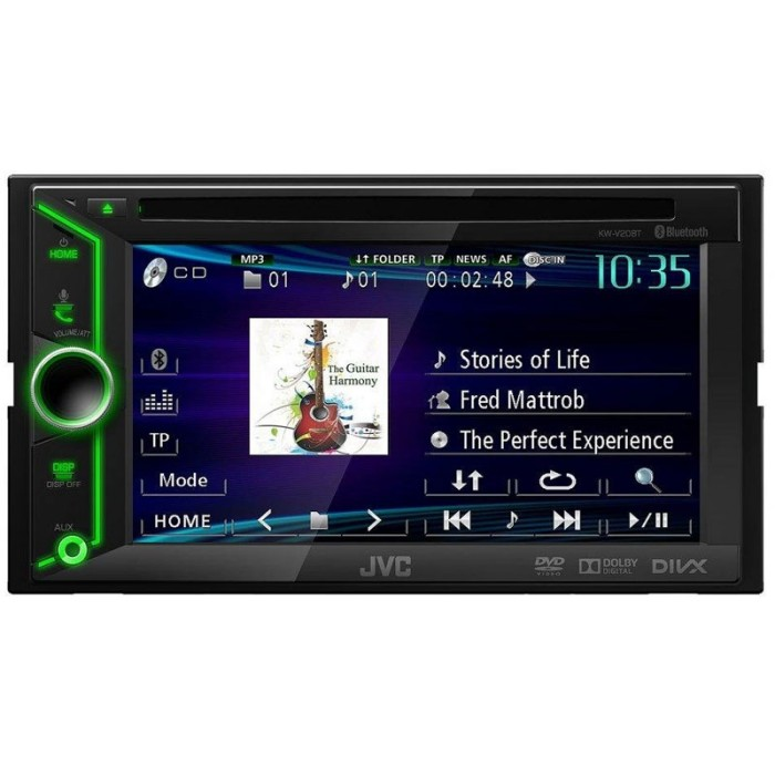kw v20bt double din av system with built in bluetooth aux u